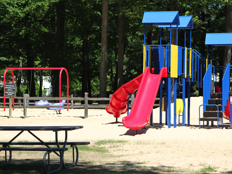 Our well kept playground has something for everyone.