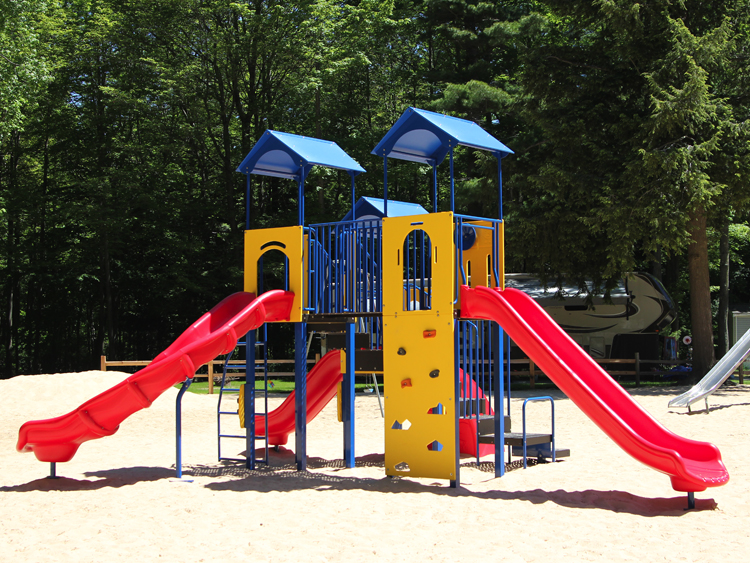 The older kids will enjoy playing on our modern playground equipment, slide, swings, monkey bars, full length basketball court, and more!